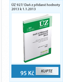 ÚZ 927/ Daň z přidané hodnoty 2013 k 1.1.2013