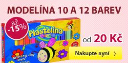 Modelína 10 a 12 barev - Sleva až 15 %