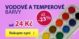 Vodové a temperové barvy - Sleva až 23 %