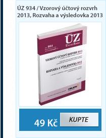 ÚZ 934 / Vzorový účtový rozvrh 2013, Rozvaha a výsledovka 2013