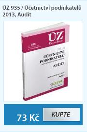 ÚZ 935 / Účetnictví podnikatelů 2013, Audit