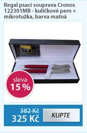Regal psací souprava Cronos 122301MB - kuličkové pero + mikrotužka, barva matná červená