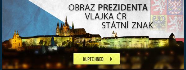 Obraz prezidenta, státní znak, vlajka ČR