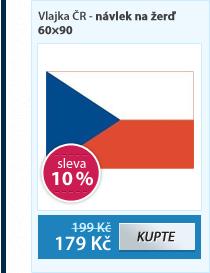 Vlajka ČR - návlek na žerď 60×90