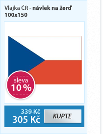 Vlajka ČR - návlek na žerď 100x150