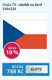 Vlajka ČR - návlek na žerď 150×225