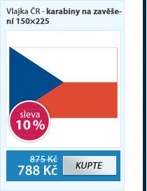 Vlajka ČR - karabiny na zavěšení 150×225