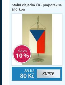 Stolní vlaječka ČR - praporek se šňůrkou