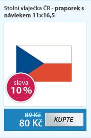 Stolní vlaječka ČR - praporek s návlekem 11×16,5