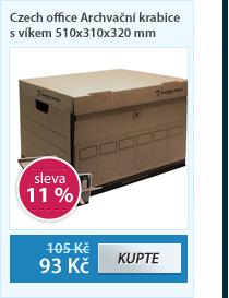 Czech office Archvační krabice s víkem 510x310x320 mm