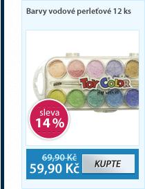 Barvy vodové perleťové 12 ks