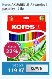 Kores AKUARELLE Akvarelové pastelky - 24ks