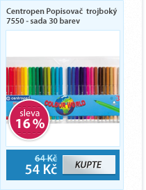 Centropen Popisovač trojboký 7550 - sada 30 barev