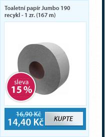 Toaletní papír Jumbo 190 recykl - 1 zr. (167 m)