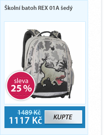 Školní batoh REX 01A šedý