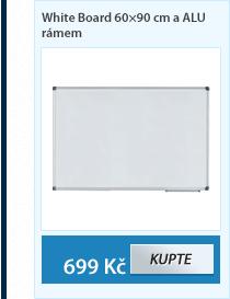 White Board 60×90 cm a ALU rámem