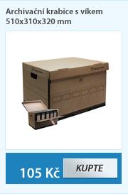 Archivační krabice s víkem 510x310x320 mm