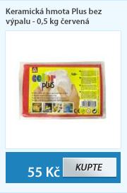 Keramická hmota Plus bez výpalu - 0,5 kg červená