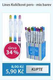 Lines Kuličkové pero - mix barev