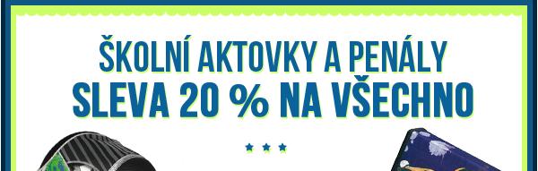 Batohy se slevou 20 %