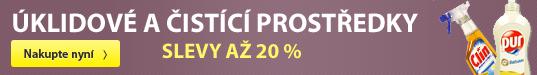 úklidové a čistící prostředky sleva až 20 %