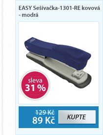 EASY Sešívačka-1301-RE kovová - modrá