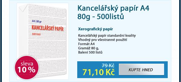 Kancelářský papír A4 80g - 500listů