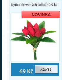 Kytice červených tulipánů 9ks