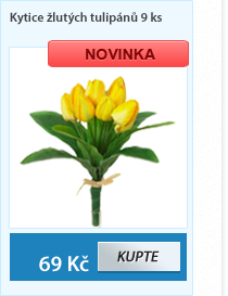 Kytice žlutých tulipánů 9ks