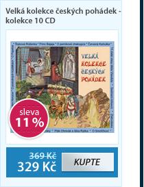 Velká kolekce českých pohádek - kolekce 10 CD