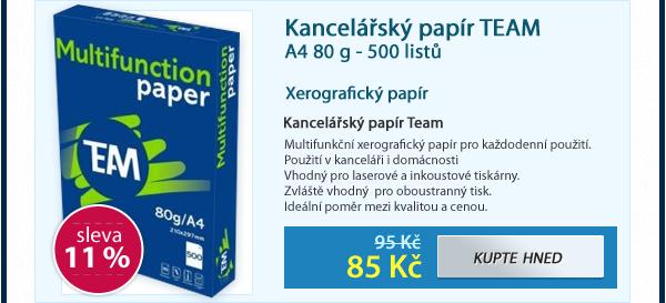 Kancelářský papír TEAM A4 80 g - 500 listů