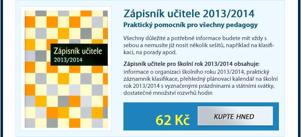 Zápisník učitele 2013/2014