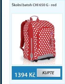 Školní batoh CHI 650 G - Red