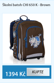 Školní batoh CHI 650 K - Brown