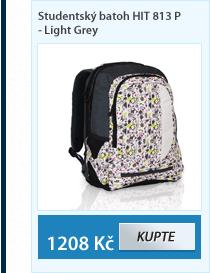 Studentský batoh HIT 813 P - Light Grey