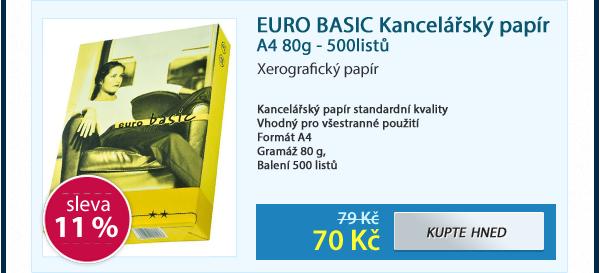 EURO BASIC Kancelářský papír A4 80g - 500listů