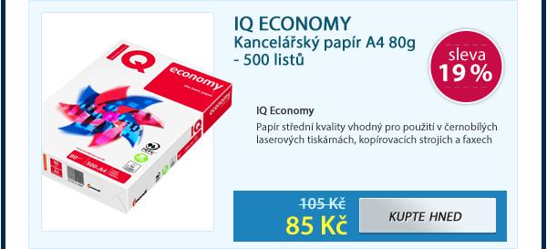 IQ ECONOMY kancelářský papír A4 80g - 500 istů