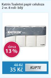 Katrin Toaletní papír celuloza 2 vr. 8 rolí- bílý