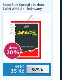 Bobo Blok Speciál s vazbou TWIN WIRE A5 - linkovaný