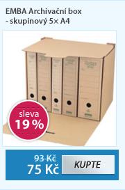 EMBA Archivační box - skupinový 5× A4