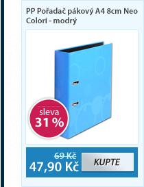 PP Pořadač pákový A4 8cm Neo Colori - modrý