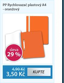 PP Rychlovazač plastový A4 - oranžový