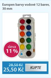 Europen barvy vodové 12 barev, 30 mm