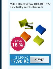 Milan Ořezávátko DOUBLE 627 na 2 tužky se zásobníkem