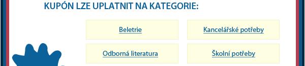 Vybírejte z kategorií: Beletrie, Kancelářské potřeby, Odborná literatura, Školní potřeby