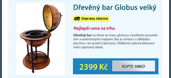 Dřevěný bar Globus velký