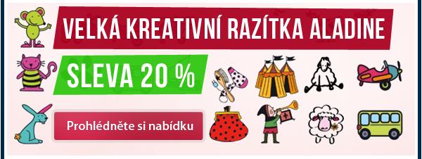 Sleva 20 % na celý sortiment kreativních razítek ALADINE