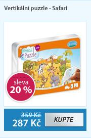 Vertikální puzzle - Veselé safari , samolepící