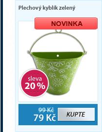 Plechový kyblík zelený