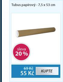 Tubus papírový - 7,5 x 53 cm